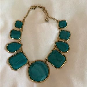 Turquoise Kate Spade statement necklace